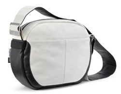 Bugaboo White Leather Diaper Bag